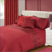 BURGUNDY COLOUR STYLISH CRINKLE TEXTURED FAUX SILK DUVET COVER LUXURY BEAUTIFUL BEDDING